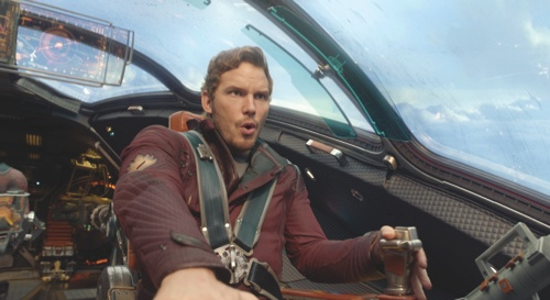 """Chris Pratt in a scene from """"Guardians Of The Galaxy"""""""