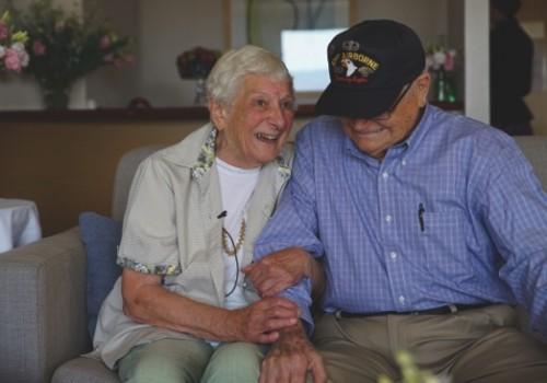 World War II veteran Norwood Thomas, 93, from the U.S. reunites with his wartime girlfriend Joyce Morris of Australia, in Adelaide