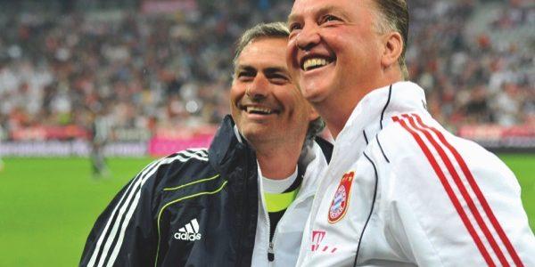 Louis van Gaal (right) and Jose Mourinho
