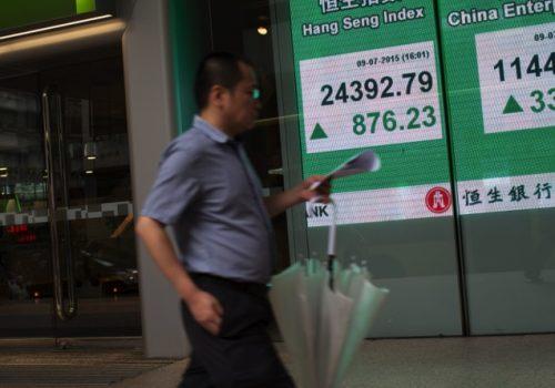 General Views Of Hong Kong As Hang Seng Index Pares Gains While China Stocks Fluctuate