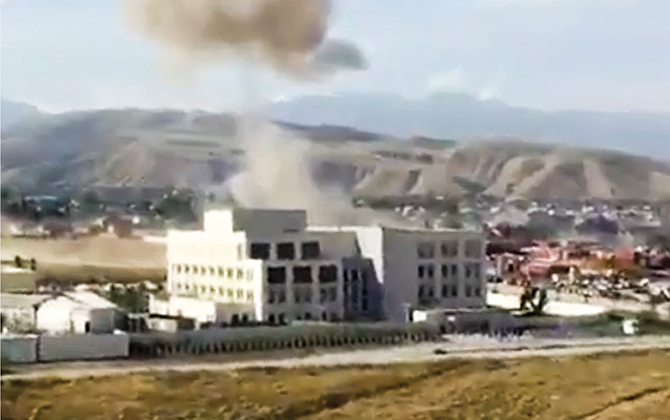 Blast hits Chinese embassy in Kyrgyzstan