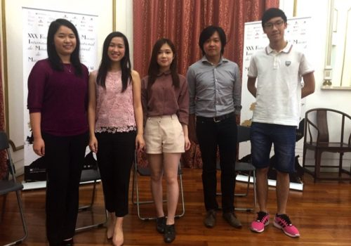 From left: Poon Ho Suet, Poon Ho Tung, Chan Sin, Leong Ngok Meng and Cheong Hoi Leong