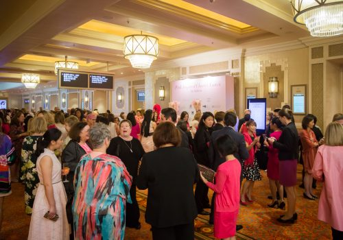 Guests arrive at Pink Charity Lunch at Conrad Macao