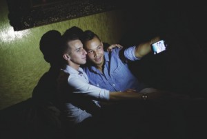 Philip Noynosoudachanh, right, takes a selfie with Josh Smith at Liaison Nightclub in Bally's Las Vegas