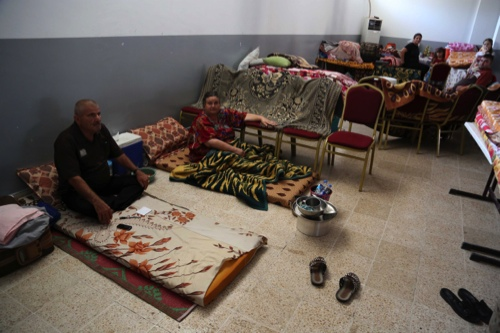 Displaced Iraqi Christians and Yazidis settle at the diocese of Zakho, 475 kilometers northwest of Baghdad