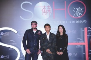 Nicholas Tse with Mani Fok and internationaly renowned street artist, D*Face