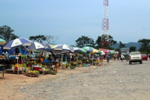 A road market in Angola