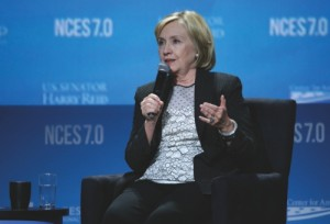 Hillary Clinton speaks at the National Clean Energy Summit