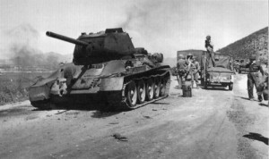 T-34_knocked_out_September_1950