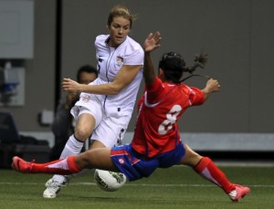 An artificial turf surface at the Women's World Cup