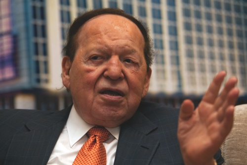 Sheldon Adelson CEO Of Las Vegas Sands Corp Attends The Sands Cotai Central Opening