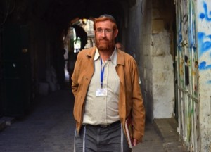 This photo made on Nov. 10, 2013 shows hardline Jewish activist Yehuda Glick walking in a street in Jerusalem