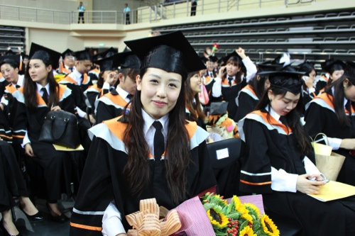 Rita Cheong, one of the young graduates
