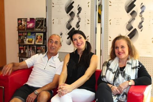 Vittorio Borrelli (left), Elena Rossi (center) and Sonia Ganassi (right)