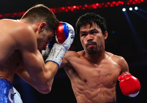 After battering Algieri at the Cotai Arena on Sunday, Pacquiao 'wants' Mayweather