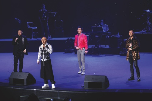 Cantopop stars Big Four kicked off the action-packed weekend Friday night with their concert WOW An Evening Date with Big Four