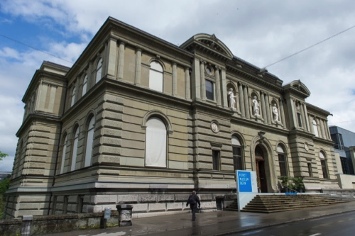 An exterior view of the Kunstmuseum in Bern, Switzerland