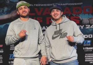 Mike Alvarado (left) and Brandon Rios