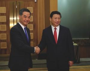 CHINA-MACAO-XI JINPING-HONG KONG-LEUNG CHUN-YING-MEETING (CN)