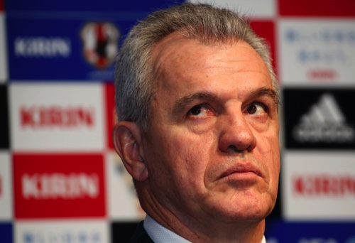 Japan's national soccer team coach Javier Aguirre
