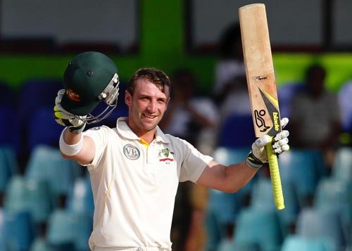 Australia's batsman Phillip Hughes
