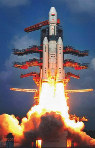 Indian Space Research Organisation's Geosynchronous Satellite Launch Vehicle (GSLV Mark-III) rocket lifts off carrying CARE (Crew Module Atmospheeric Re-entry Experiment) from the east coast island of Sriharikota, India