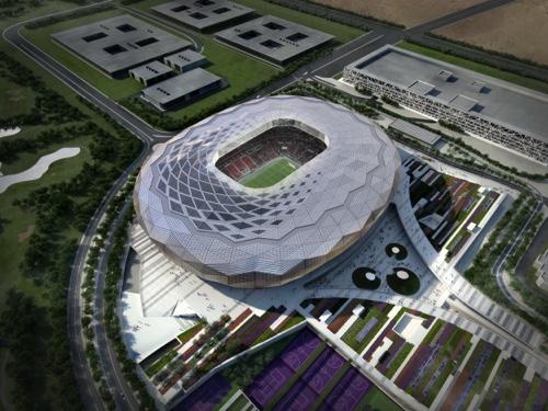 Artist's impression of the Qatar Foundation Stadium