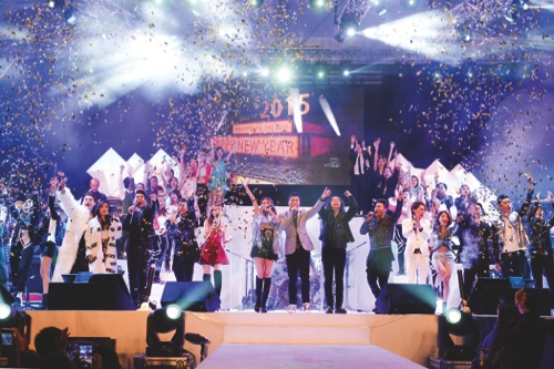 New Year's Eve Countdown Concert held in the Sai Van Lake Square