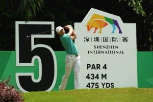 Huang Wen Yi teeing off