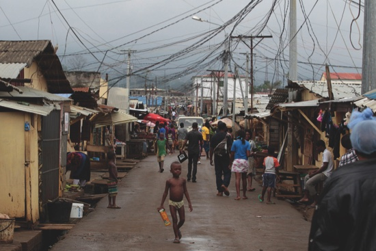 A neighborhood in central Malabo, capital of Equatorial Guinea