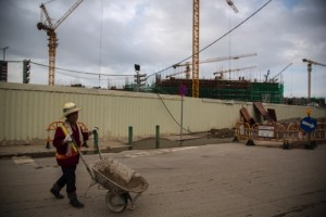General Views of Macau Casinos And Infrastructure Under Construction
