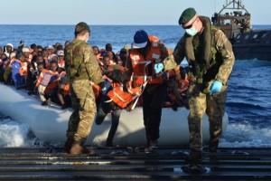 HMS Bulwark Rescues Over 400 Migrants