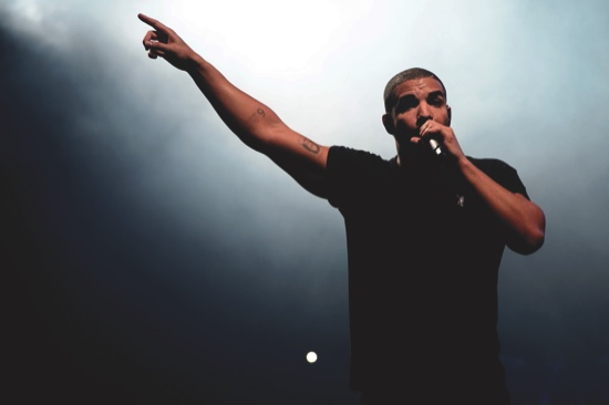 Canadian singer Drake at the Wireless festival in Finsbury Park