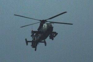 A Chinese Z-19 military attack helicopter