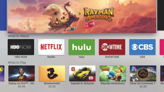 App store on the new Apple TV