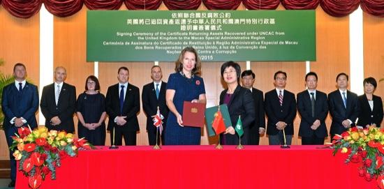 Caroline Wilson and Sonia Chan (center)