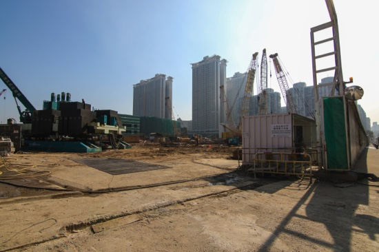 The Pearl Horizon construction site