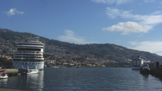 Cruise ships berthed in the port of Funchal, Madeira