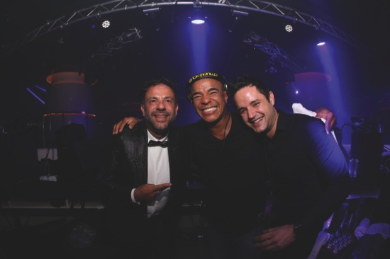 (From left to right) Francisco Ferrer, DJ Erick Morillo and Tony Prats enjoying the party vibe