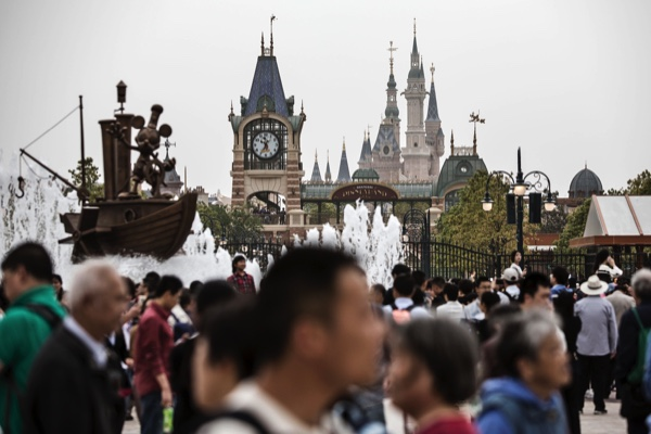 Views Of Disneytown Retail Area And Subway Station Ahead Of Shanghai Disneyland Opening Next Month