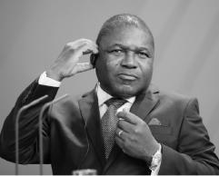 President of Mozambique Filipe Nyusi