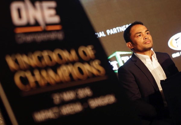 One Championship Strawweight champion Dejdamrong Amnuaysirichoke attends a press conference for his upcoming Mixed Martial Arts, (MMA), match in Bangkok