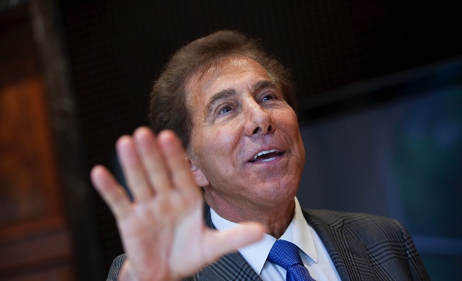 """We established a long time ago various scenarios where we can operate from 100 tables to 280 tables,"" said Steve Wynn (pictured)"