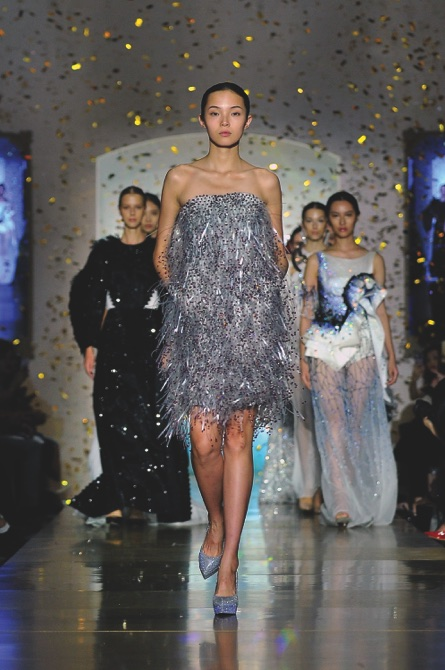 Exclusive designer runway show Front Row marked the start of three days of fashion events celebrating the official launch of The Parisian Macao's Shoppes at Parisian